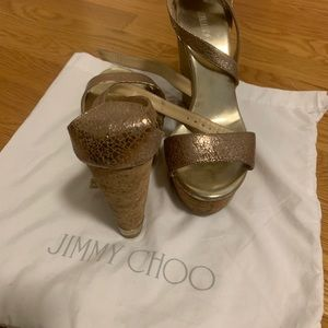 Rose gold jimmy choo espadrilles